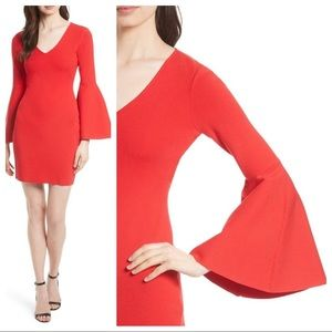 Milly - V Neck Swing Sleeve Dress - SZ L NWT
